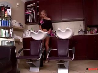 Hairstylist and girlfriend Fuck their Monster Dick Client