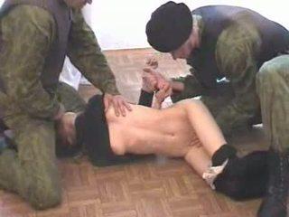Two 军队 men brutalize terrorist 视频