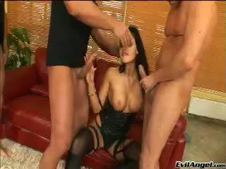 Hot Ass Aletta Ocean Gets Gangbanged By 3 Huge Wet Cocks!