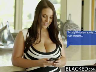 Blacked büyük doğal tüysüz aptal kız arap angela yüze sikiş fucks bbc