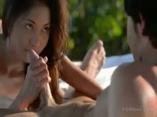 Asian With Long Dark Hair Gets Sex On Nature