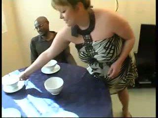 Perancis wanita gemuk cantik christine gangbanged