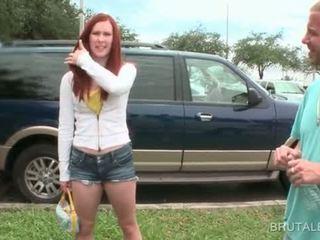 Horny dude picks up amateur slut to smash