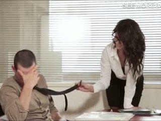 Nádherný kancelář dívka alexa tomas screwed