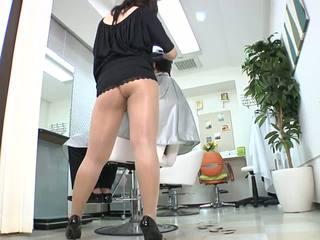 Reiko nakamori секси barber в чорапогащник