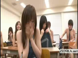 høyskole, japanese, striptease
