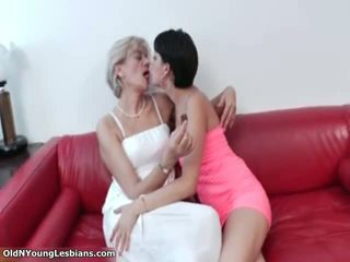Mature Blonde Lesbian Gets Horny Making