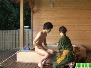japonais, pipe, mature