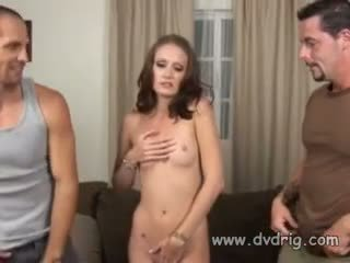 Slutty Campus Teen Hailey Makes An Extra Buck Playing With Two Guys And Their Cocks In A Porn Movie Threesome Cumshot XXX
