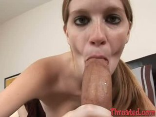 Pecker paramour layla exx blocks her mouth with a throbbing meatpole until she chokes