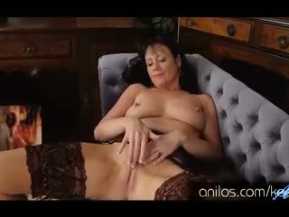 Horny Milf Elise Summers takes off her slutty red dress