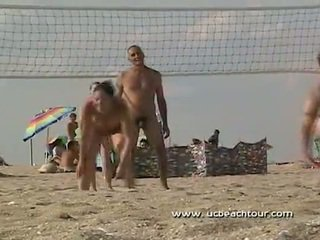 Nude beach volley ball