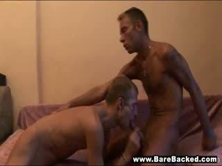 Gay Deepthroat and Hot Barebacked