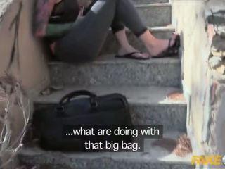 Fake 警察 抓 同 一 大 假阳具 和 性交 由 一 copper