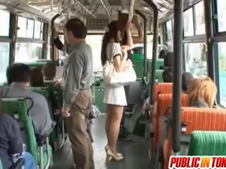 Yuu Asakura With A Cock On The Bus