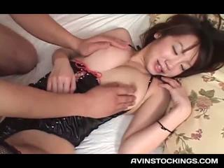 Sex Toy Addict Jap Tramp In Latex Cunt Licked And Fingered