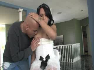 Guy sexing this Tgirl princess Rough