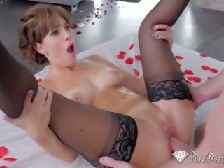 PURE MATURE Alana Cruise pampered with massage fuck on Valentines Day