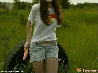 Pack من الاباحية: وردي nipple في سن المراهقة fucks لها لعبة