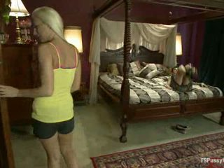 Sleep Over Nanny Becomes Bend Over Nanny To Ts Foxxy S Cock