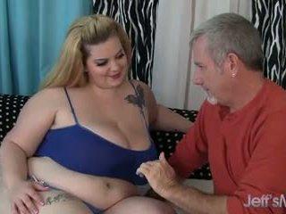 Pretty Plumper Sasha Juggs takes on a fat cock.