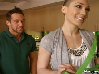 Bald Woman Lily LaBeau Has A Welcome S...