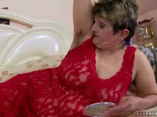 Hairy granny gets fucked pretty hard