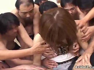 Japonské naivka touched podľa veľa men uncensored