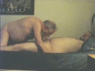 Grootvader has plezier met grandson
