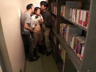 Schoolgirls groped by perverts in schoollibrary 7
