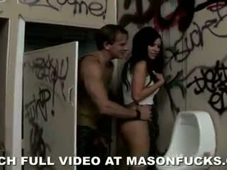 Mason Moore Squirts In a Dirty Bathroom