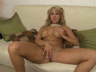 Hot Busty Blonde Natalie Vegas Pleases Herself