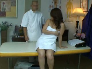 Young Wife reluctant Orgasm during Health Massage