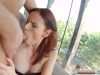 brunette, double penetration fresh, hottest cum
