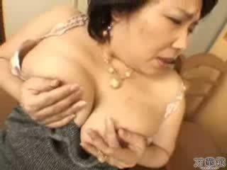 japonais, masturber, mature
