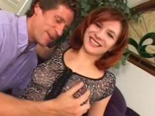 Dirty Redhead Slut Eating Her Creampie