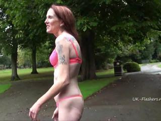 public sex, old, tattooed, flashing