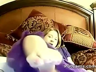 College Blond Girl Masturbating With Her Toy