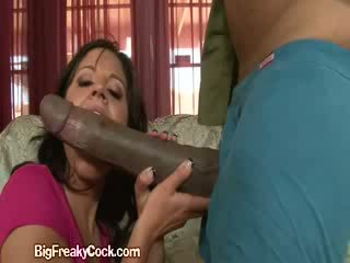 Naked Latina Sucks Big Black Cock