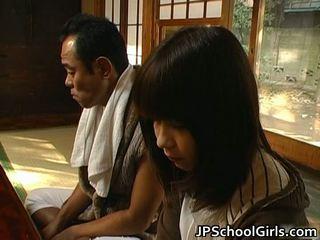 Haru sakuragi азіатська школярка has секс