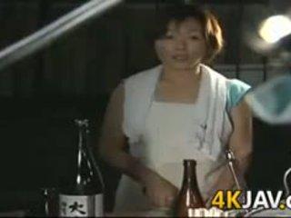 brunetă, japonez, muie, matur