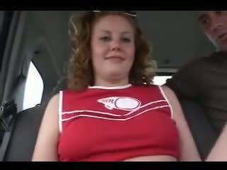 Redhead Cherry Cheerleader Pounded deep in her lovers spot