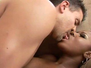 Hot anal with cute chocolate Ms. Simone