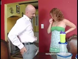 Scorching Red Head Cherry Poppens Fills Her Mouth With A MBootyive Vertical Nob