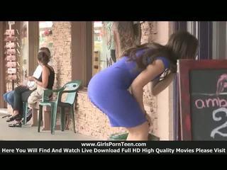 Sofia 十代の若者たち 公共 nudity ビデオ