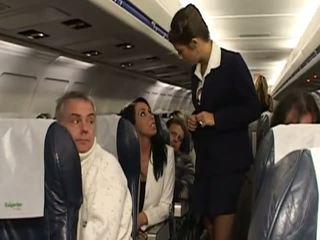 Hardt sex med veldig hot stewardesses