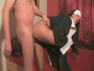 Аматьори монахиня майната