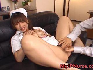 Ai Sayama Gorgeous Asian Nurse Shows Off