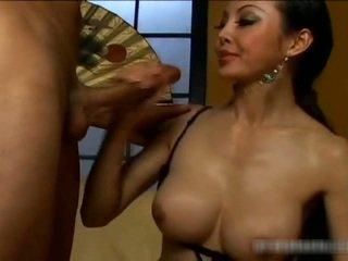 Busty Asian Bimbo Has Pussy Eaten