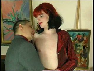 Anal sex for redhead crossdresser